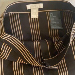 Striped Midi length Skirt